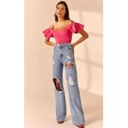 Calça Lika jeans Azul -