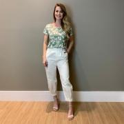 Calça sarja Helena Off white -