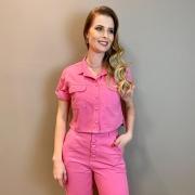 Camisa cropped Maisa Azalea Pink -