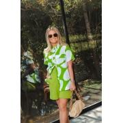 Camisa mc bolas aruba Verde -