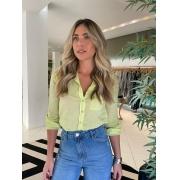 Camisa mg longa bolso Verde -