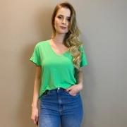 Camiseta em malha c/ dct Verde -