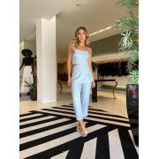 Conjunto blusa e calça Azul -