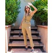 Conjunto blusa e calça Beatriz Amarelo -