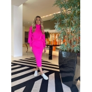 Conjunto blusa e saia tricot Pink -