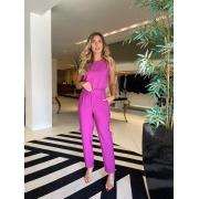 Conjunto cropped + calça portinari Pink -