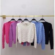 Conjunto tricot trança Preto -