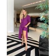 Conjunto tunica c/ shorts curto linho Violeta -