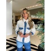 Jaqueta pelo Off white -