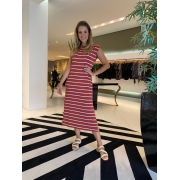 Muscle dress listrado Terracota -