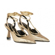 Sapato cobra metal Ouro -