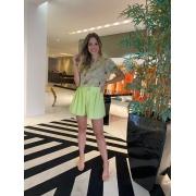 Short evase c/ pesponto Verde lima -