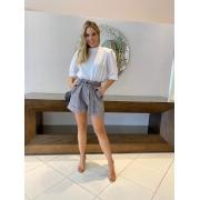 Shorts juliane Xadrez preto -