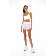 Shorts performing air recortes lime Cinza Ice -