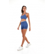 Shorts sem costura colors Azul movement -