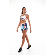 Shorts tecnospan speed com elastico speed Azul -