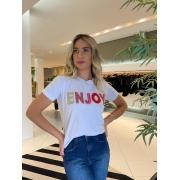T-shirt Enjoy Branco -