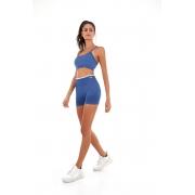 Top sem costura colors Azul movement -