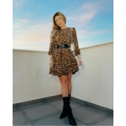 Vestido 4 recortes Animal print -
