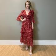 Vestido antonieta Vinho -