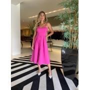 Vestido botões portinari Pink -