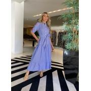 Vestido Claudia listrado Marinho -