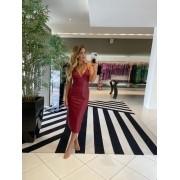 Vestido couro curto skin Vermelho -