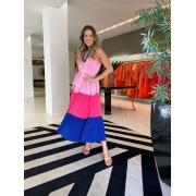 Vestido crepe Ana Rosa claro -