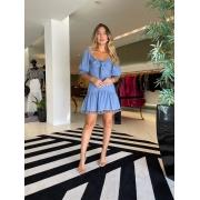 Vestido curto Azul -