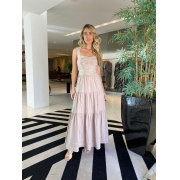 Vestido Elisa Bege -