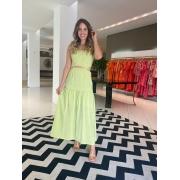 Vestido Esther c/ abertura na cintura Verde Abacate -