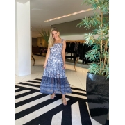 Vestido jaqueline Off white/azul -