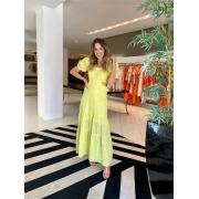 Vestido laise longo babados Lima -