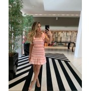 vestido lastex curto rosa -