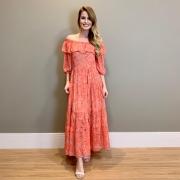 Vestido longo Paisley Laranja -