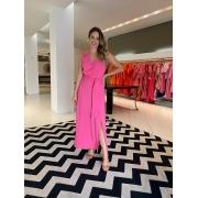 Vestido Maitê c/ detalhe no ombro Pink -