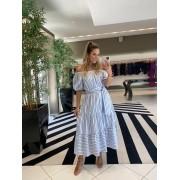 Vestido melissa c/ faixa Azul -