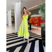 Vestido midi Ayla Amarelo -
