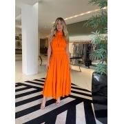 Vestido midi dress Antonieta Laranja -