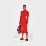 Vestido midi golinha vermelho