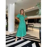 Vestido midi mg bufante double Verde -