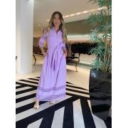 Vestido orquidea Lilás -
