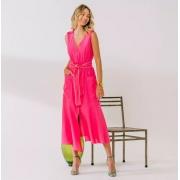 Vestido Rebeca bicolor Rosa -