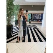 vestido Salete preto e Branco -