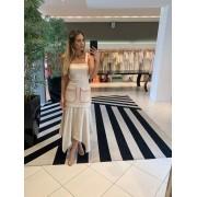 Vestido Samantha Bege -