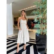 Vestido Sibeli Bege -