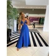 Vestido summer recortes Azul -