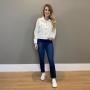 Calça Luisa reta true Blue -