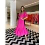 Vestido Larissa c/ botões e mg longa Pink -