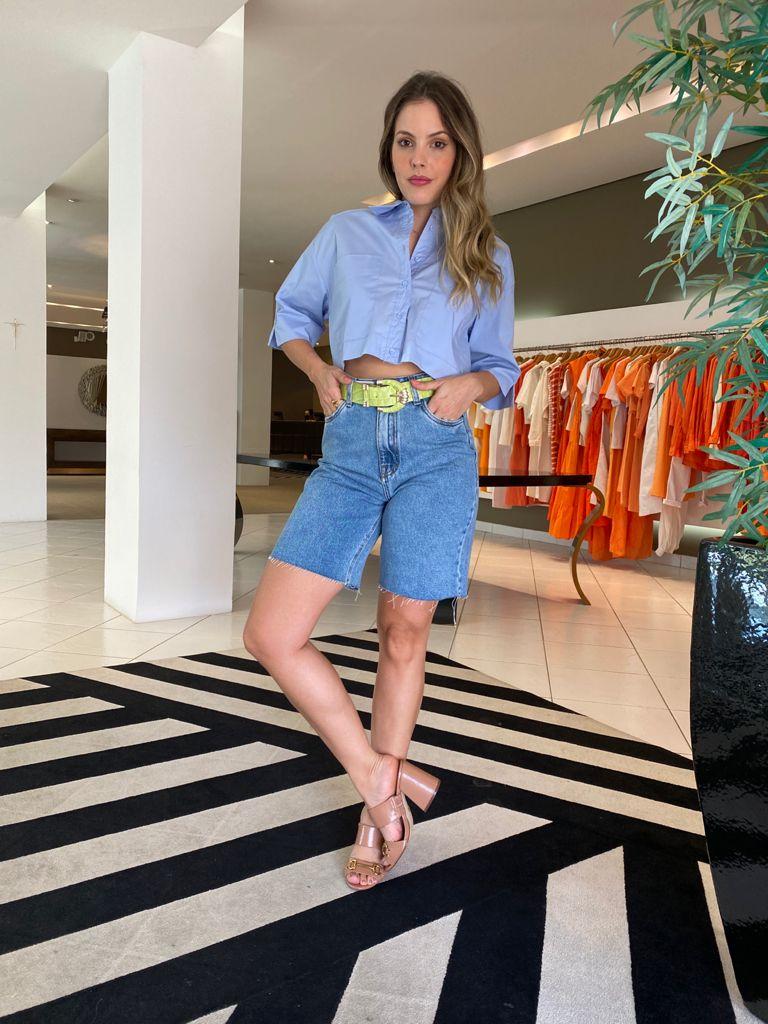 Bermuda cint. alta Jeans -